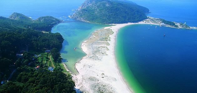 Galicia isla Cies y norte de Portugal